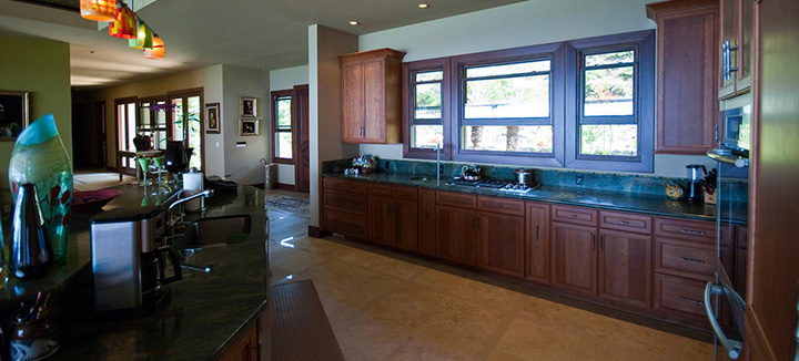 High-end kitchen with latest appliances